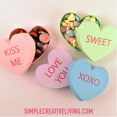 How to Make a Conversation Heart Treat Box for Valentine's Day with Your Cricut
