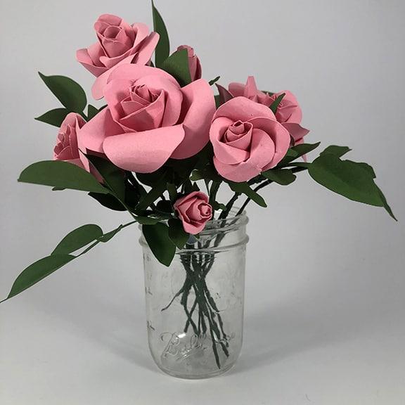 DIY Realistic Paper Rose Bouquet - Simple Creative Living